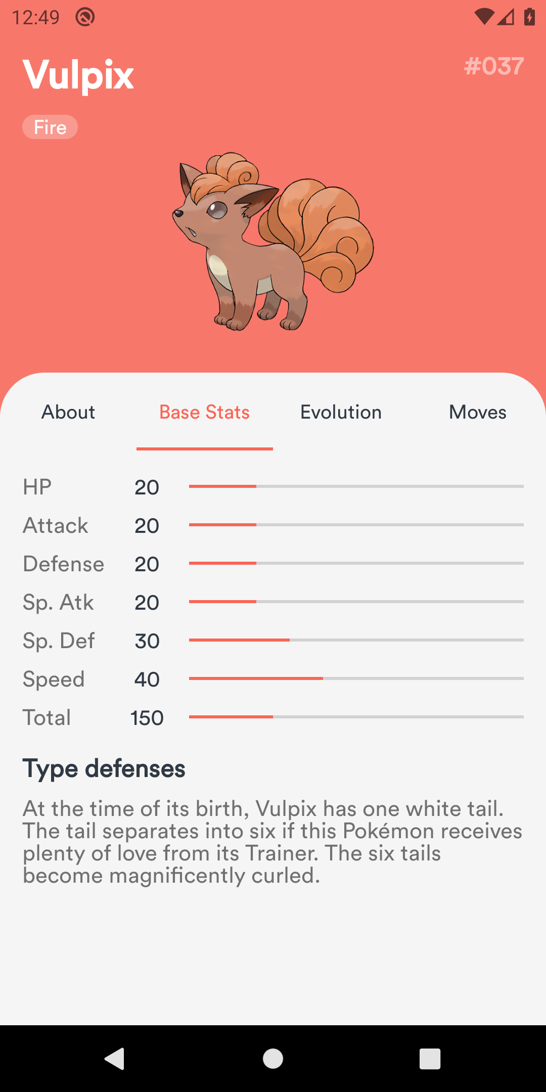 Pokemon Info - Base Stats
