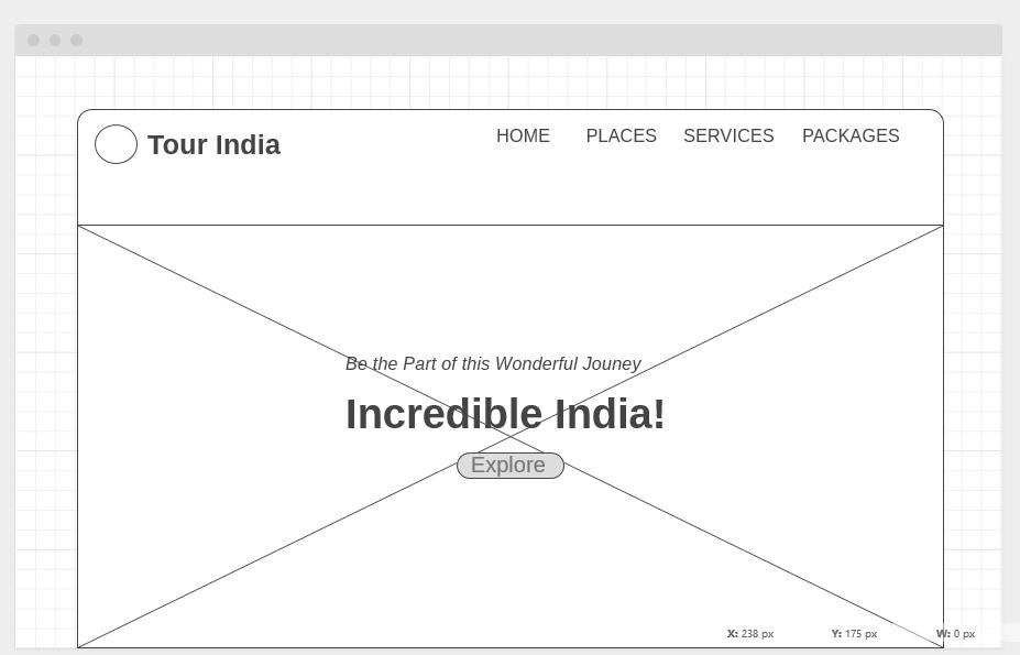 Tour India Wireframe