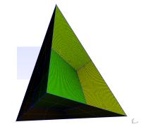 Tetrahedron mesh