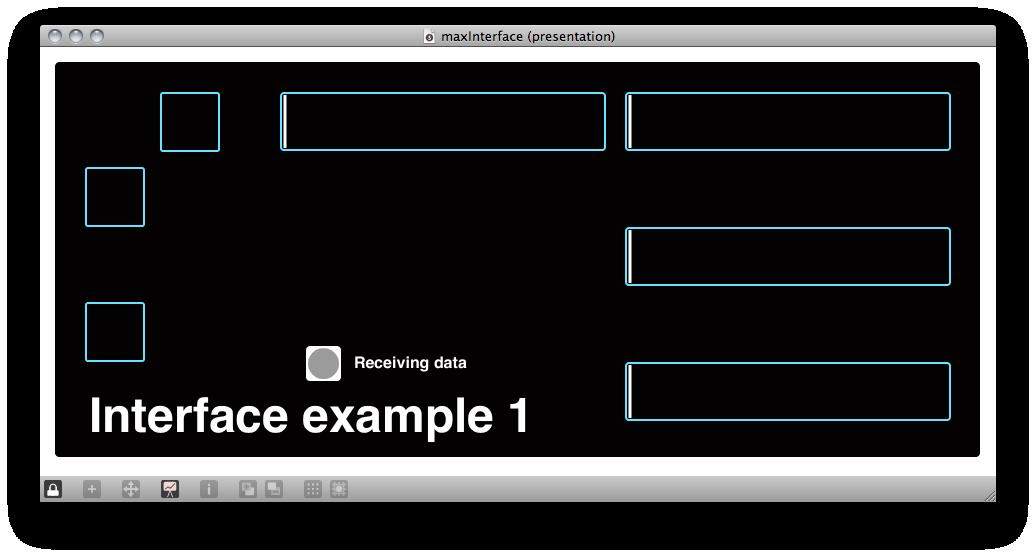 MaxMSP example interface