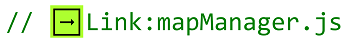"button shown next to the text ""link:MapManager.js"""