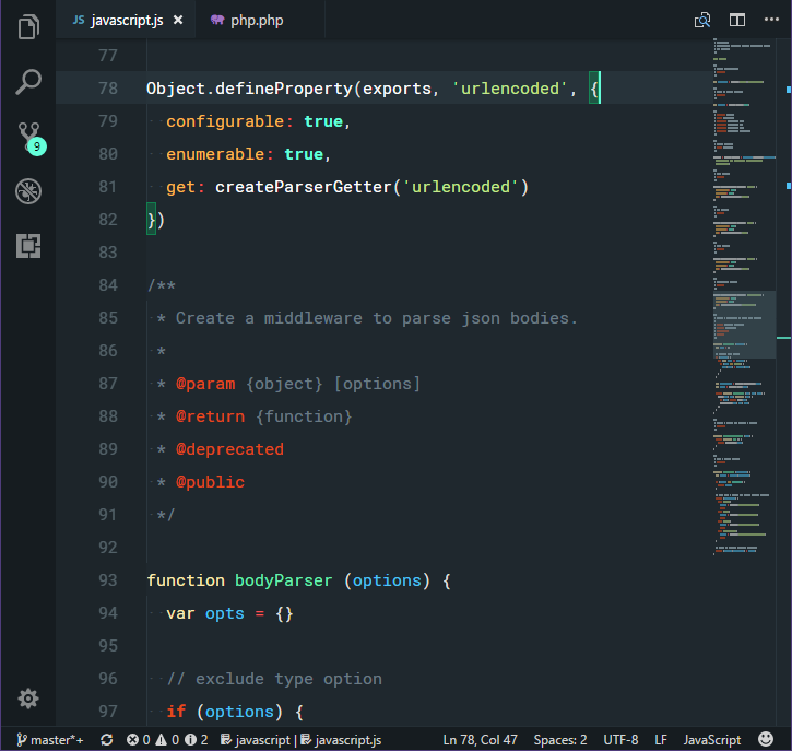 Dark theme with JavaScript