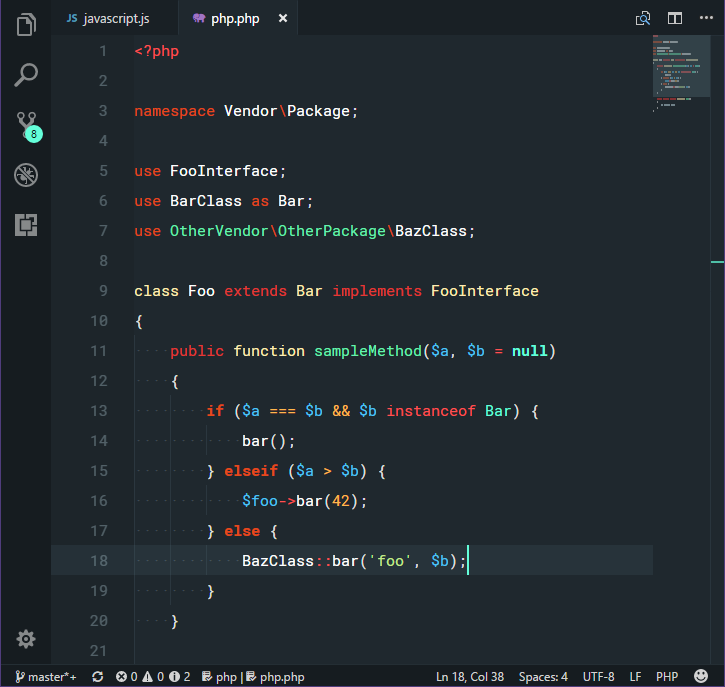 Dark theme with PHP