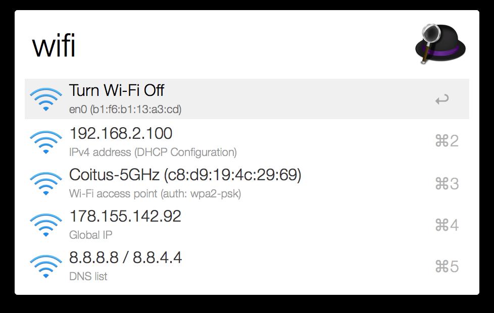 alfred-wifi-workflow-wifi
