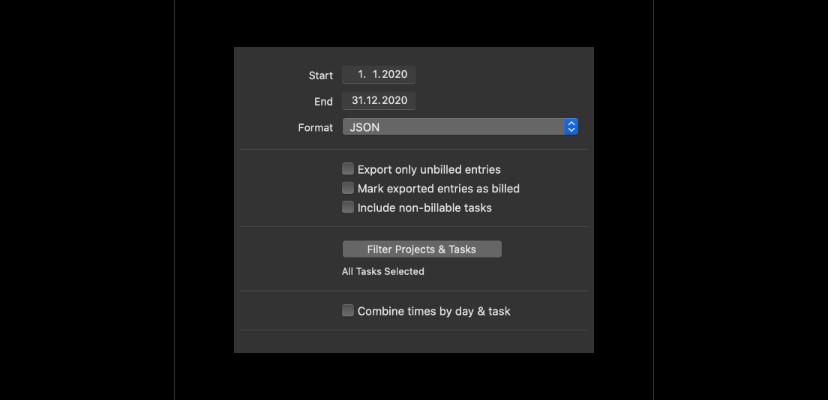 Tyme 3 JSON export