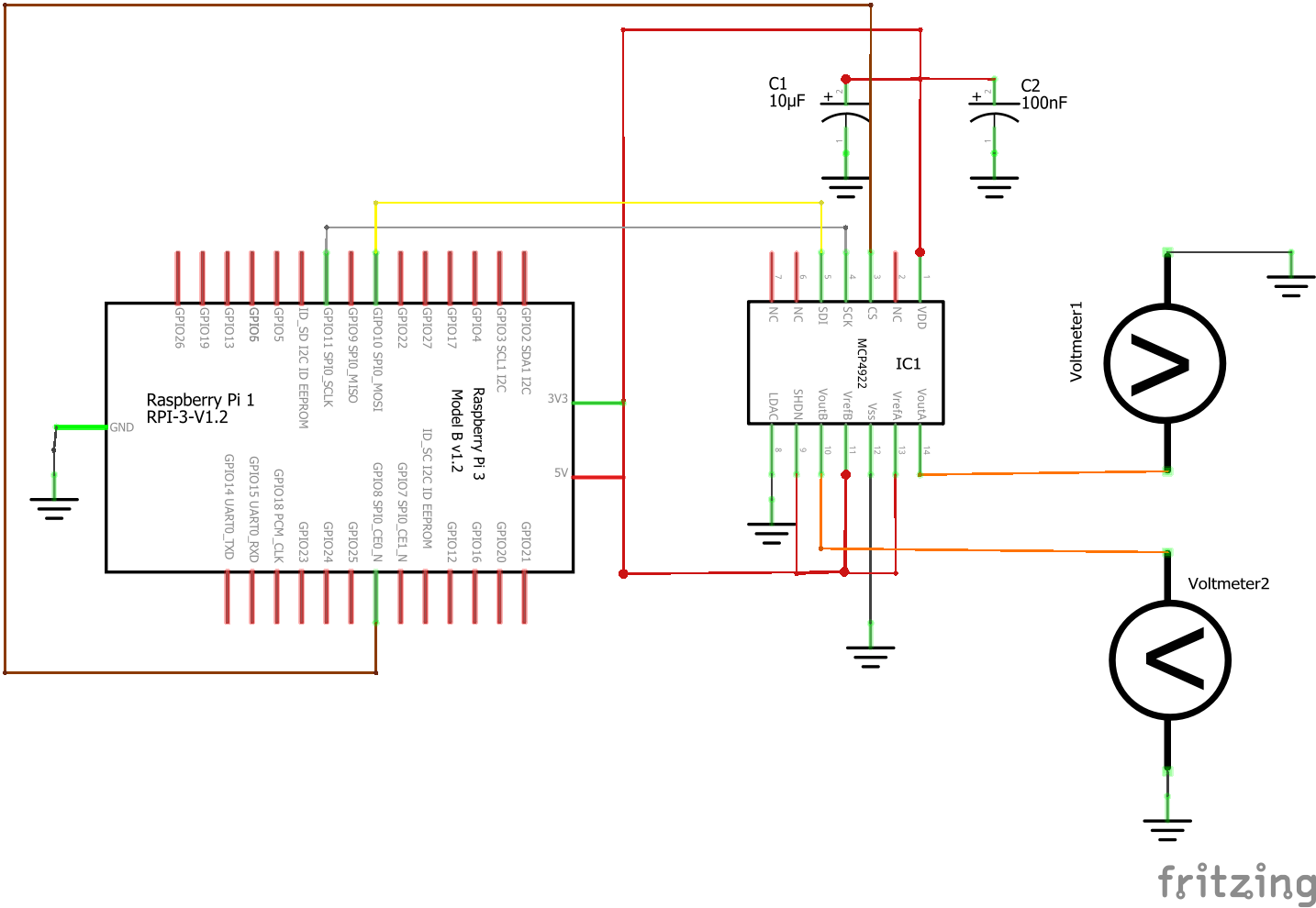 MCP4922 Schematic Example