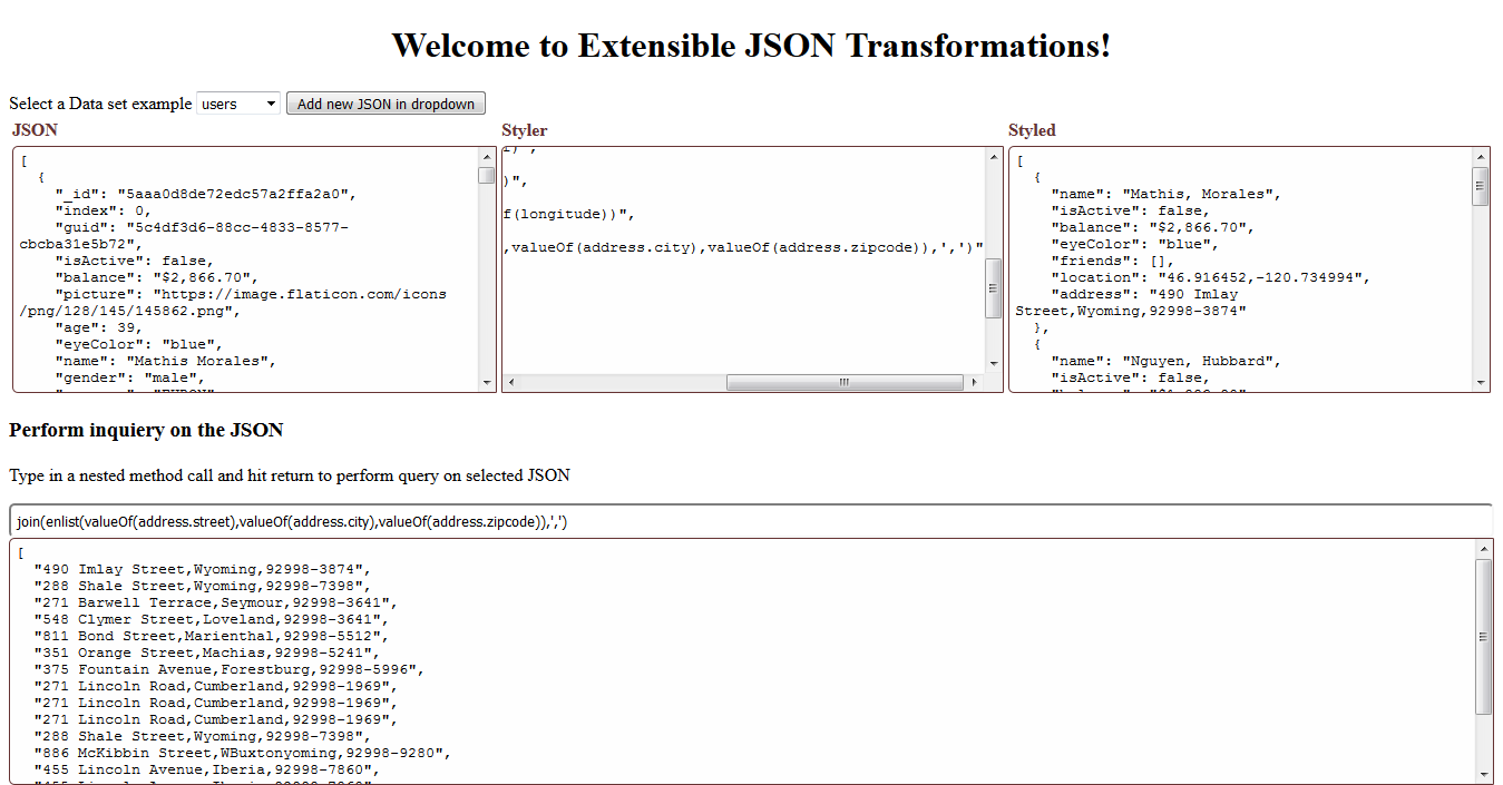 Package - extensible-json-transformations