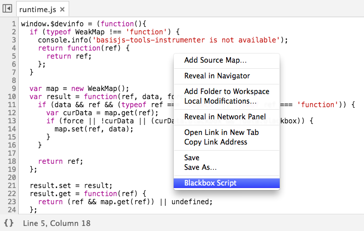 Blackbox runtime script