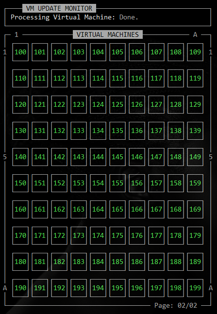 Image of ASCii VMSS Dashboard Second page