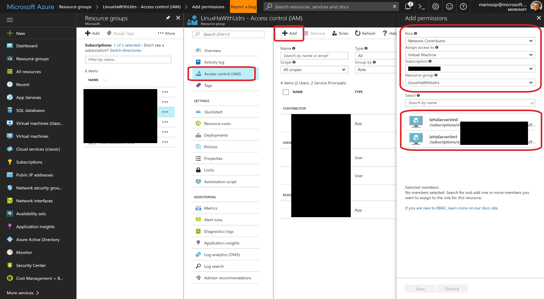 Assigning Permissions to a Managed Service Identity