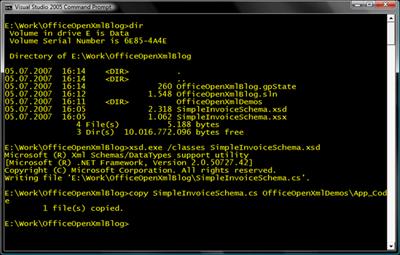 Visual Studio 2005 Command Prompt