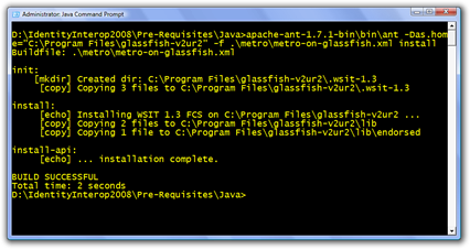 Administrator Java Command Prompt