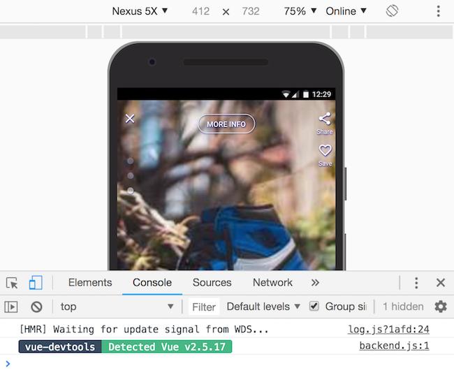 Chrome device toolbar