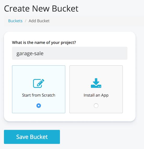 Cosmic - Add new bucket
