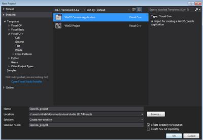 Opengl Visual Studio 2017