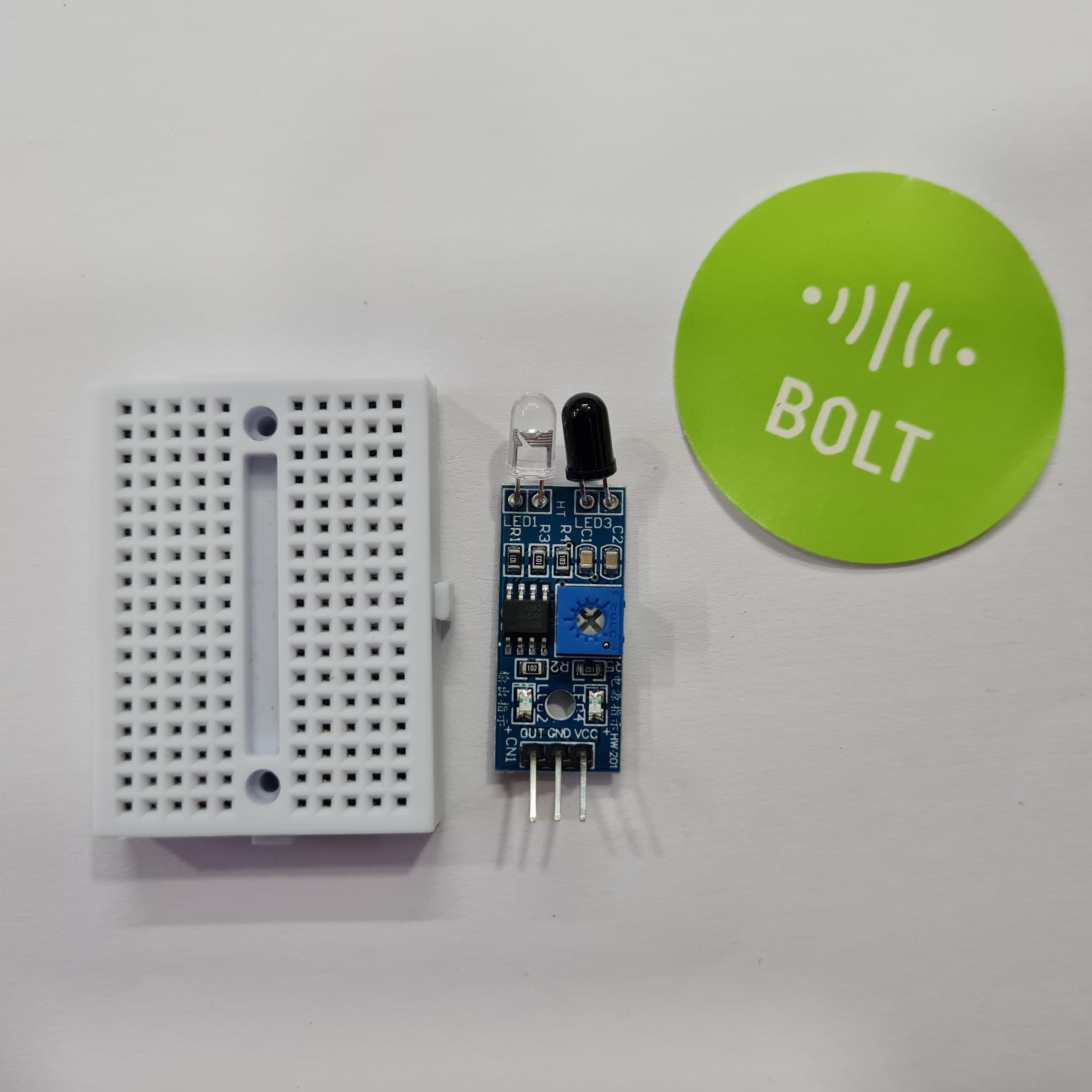 breadboard and sensor