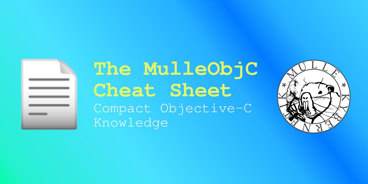 MulleObjC Cheat Sheet