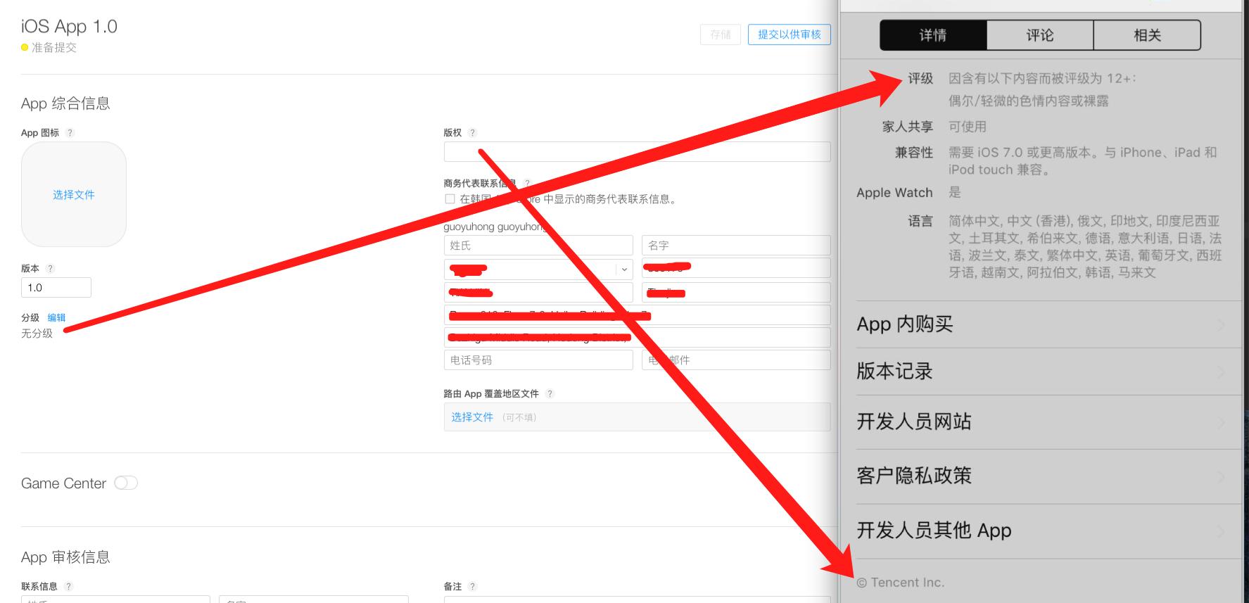 分级显示和版权信息显示