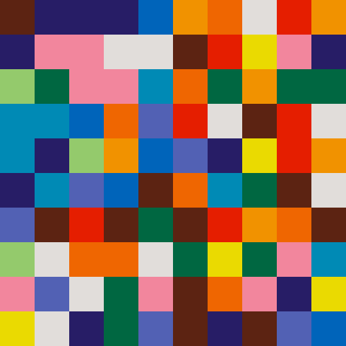 Image with large multicolored squares