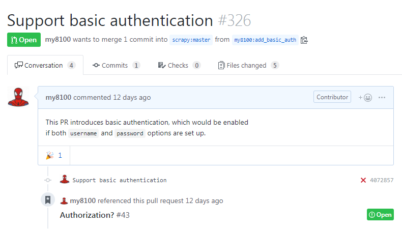 pull request #326