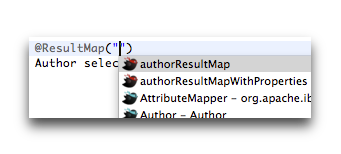 autocomplete resultmap annotation