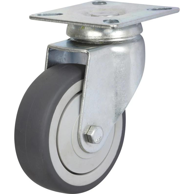 Roulette pivotante à platine Ø 75 mm