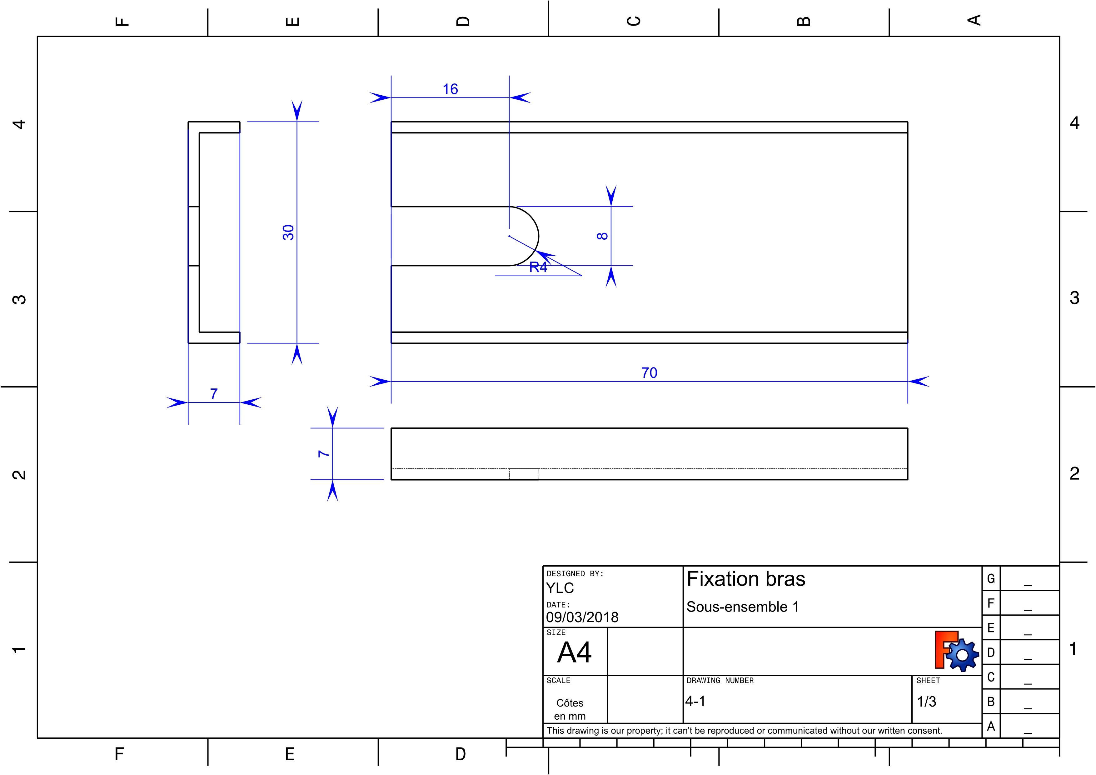 Annexe4 : plan pieces metal : Element1 de la fixation du bras.jpg
