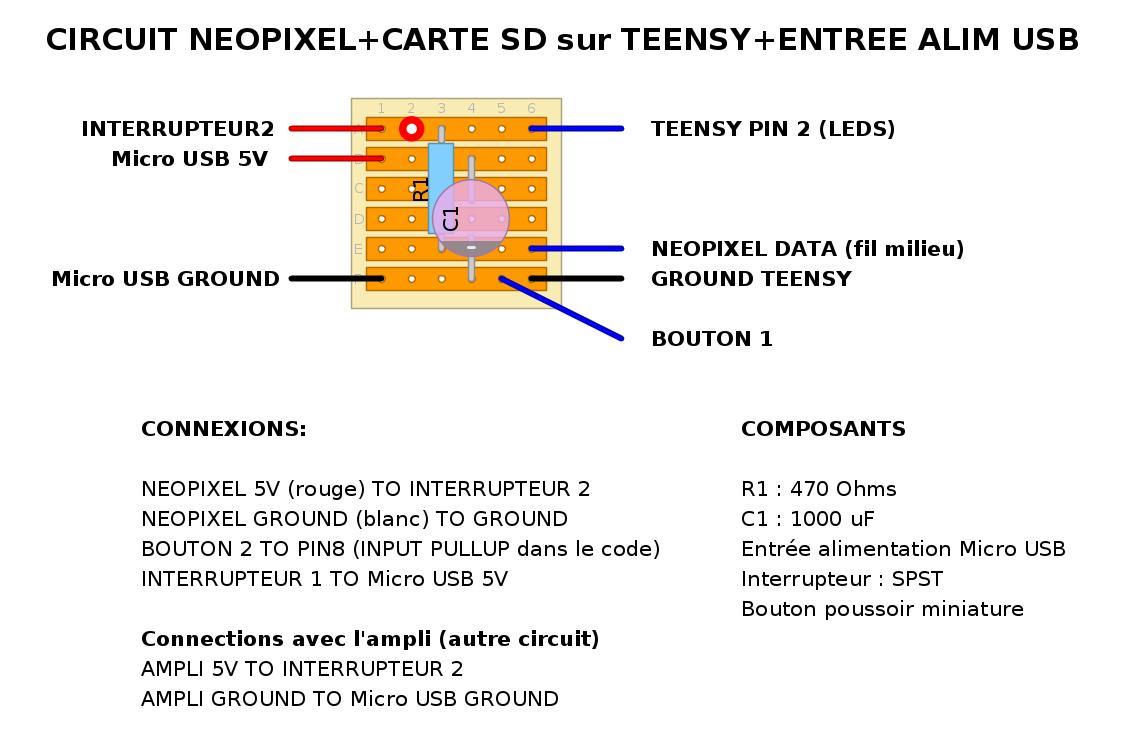 circuit pour leds neopixels