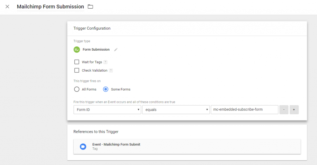 Google Tag Manager - Form Submission Trigger