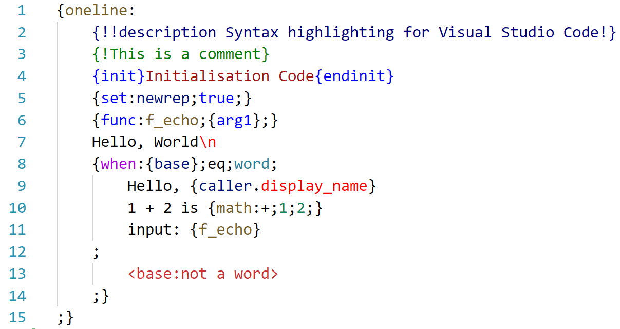 Light+ highlighting example