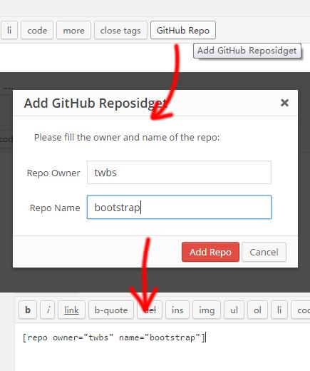Insert Reposidget
