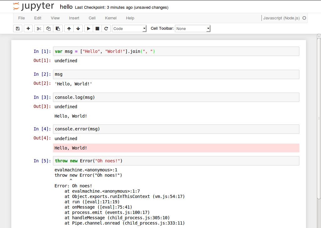 ijavascript - npm