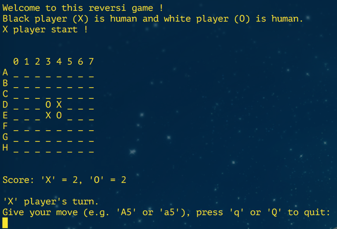 Figure 1: Initialisation of Game.