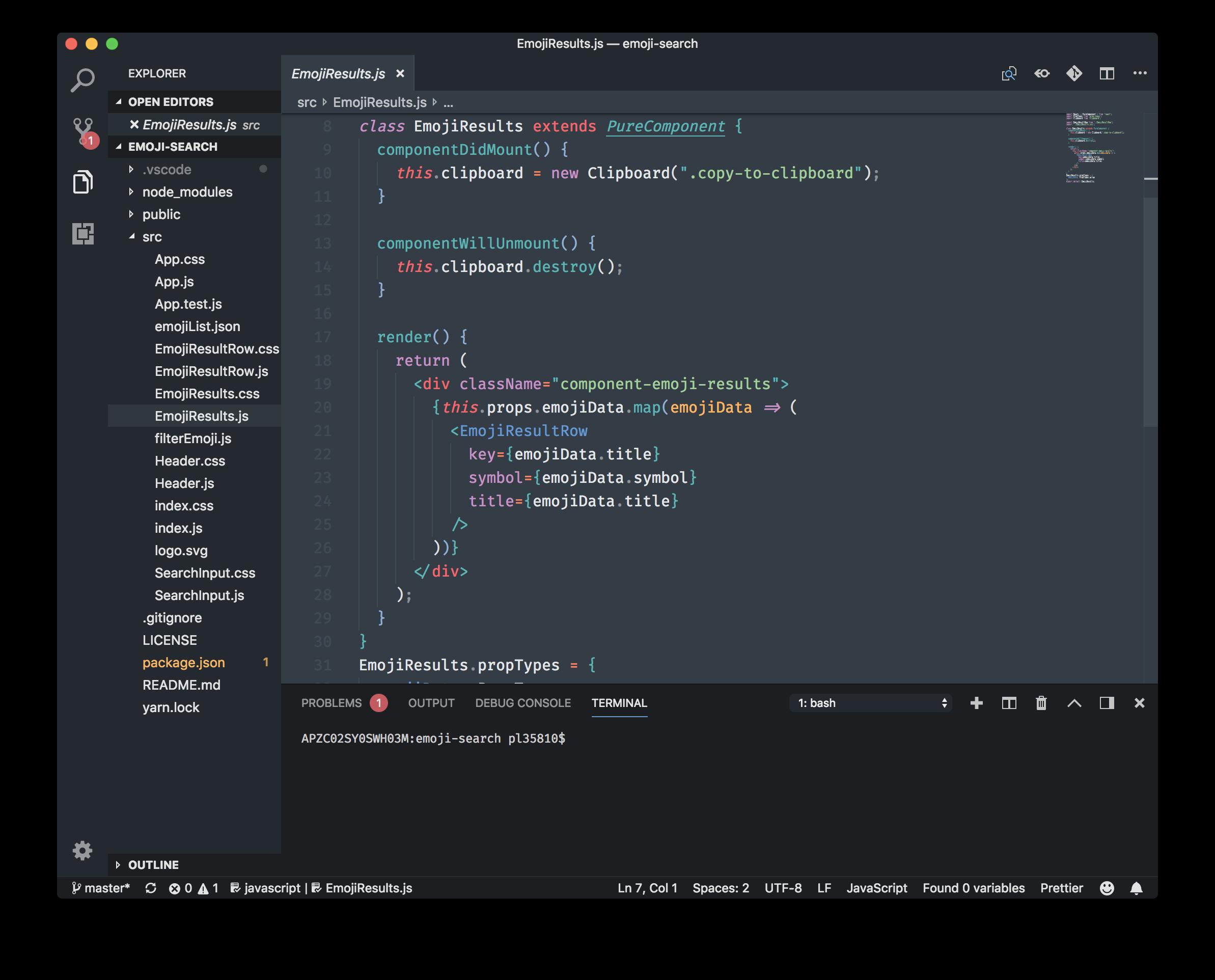 Mariana Pro JS Screenshot