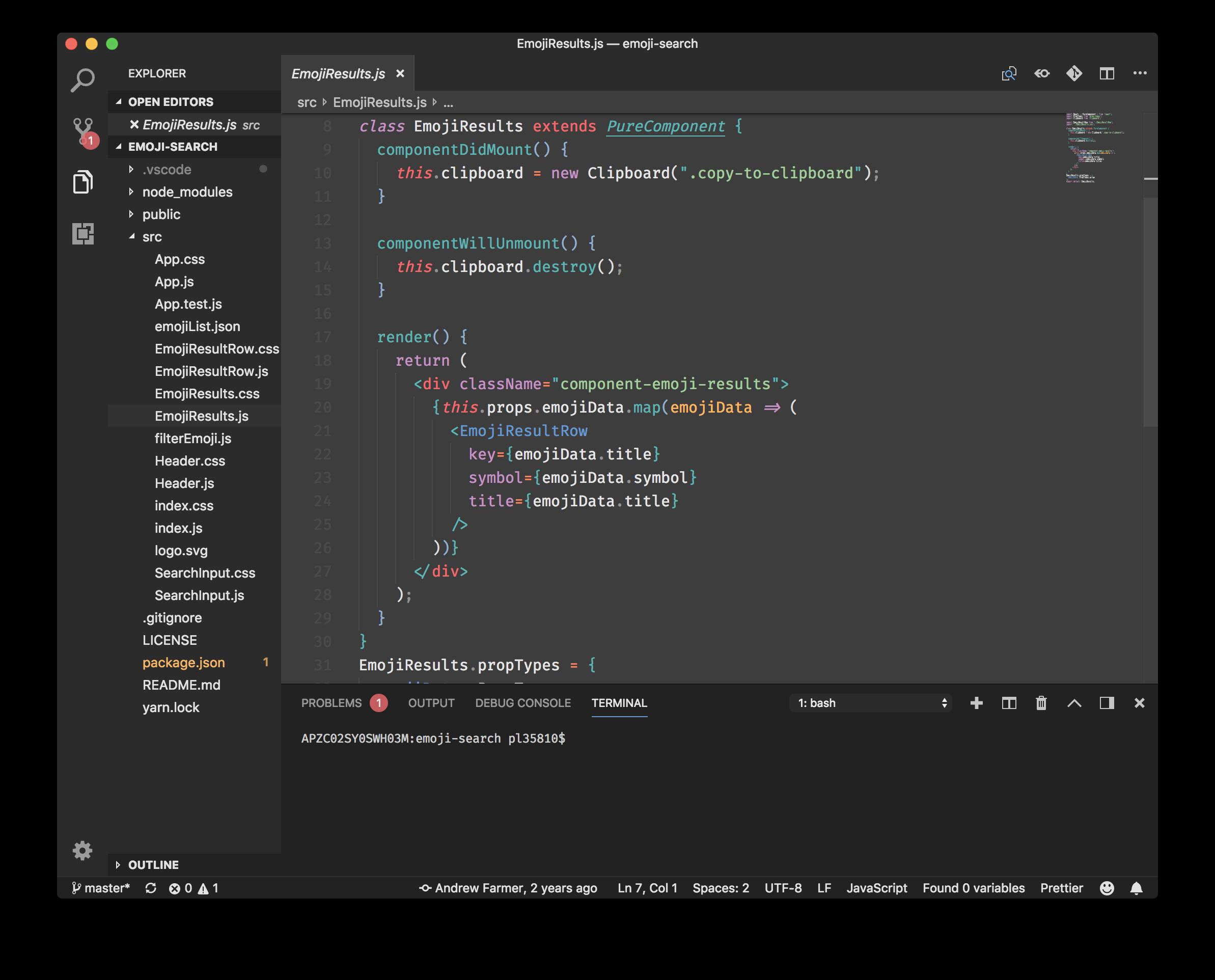 Mariana Pro CSS Screenshot