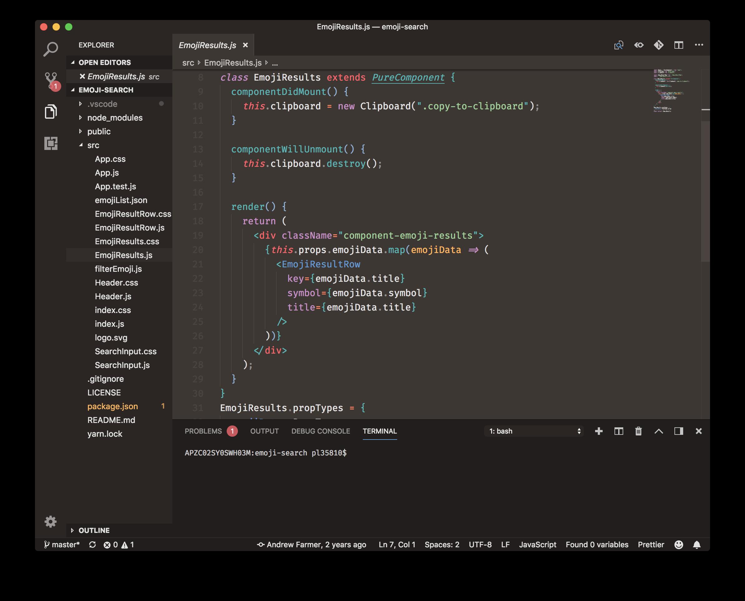 Mariana Pro Terminal Screenshot