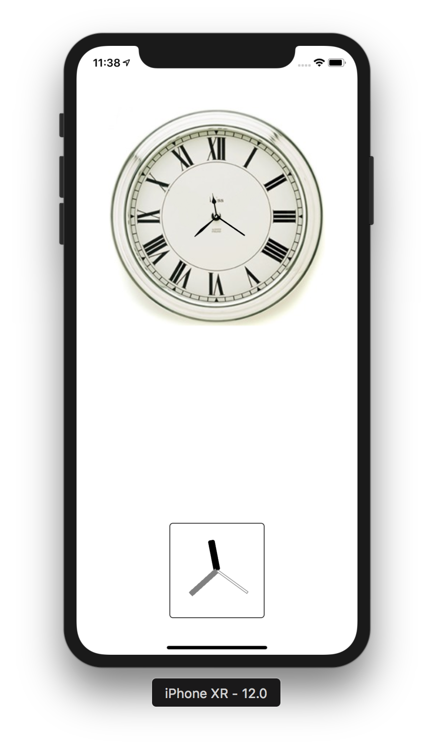 Example of ClockView