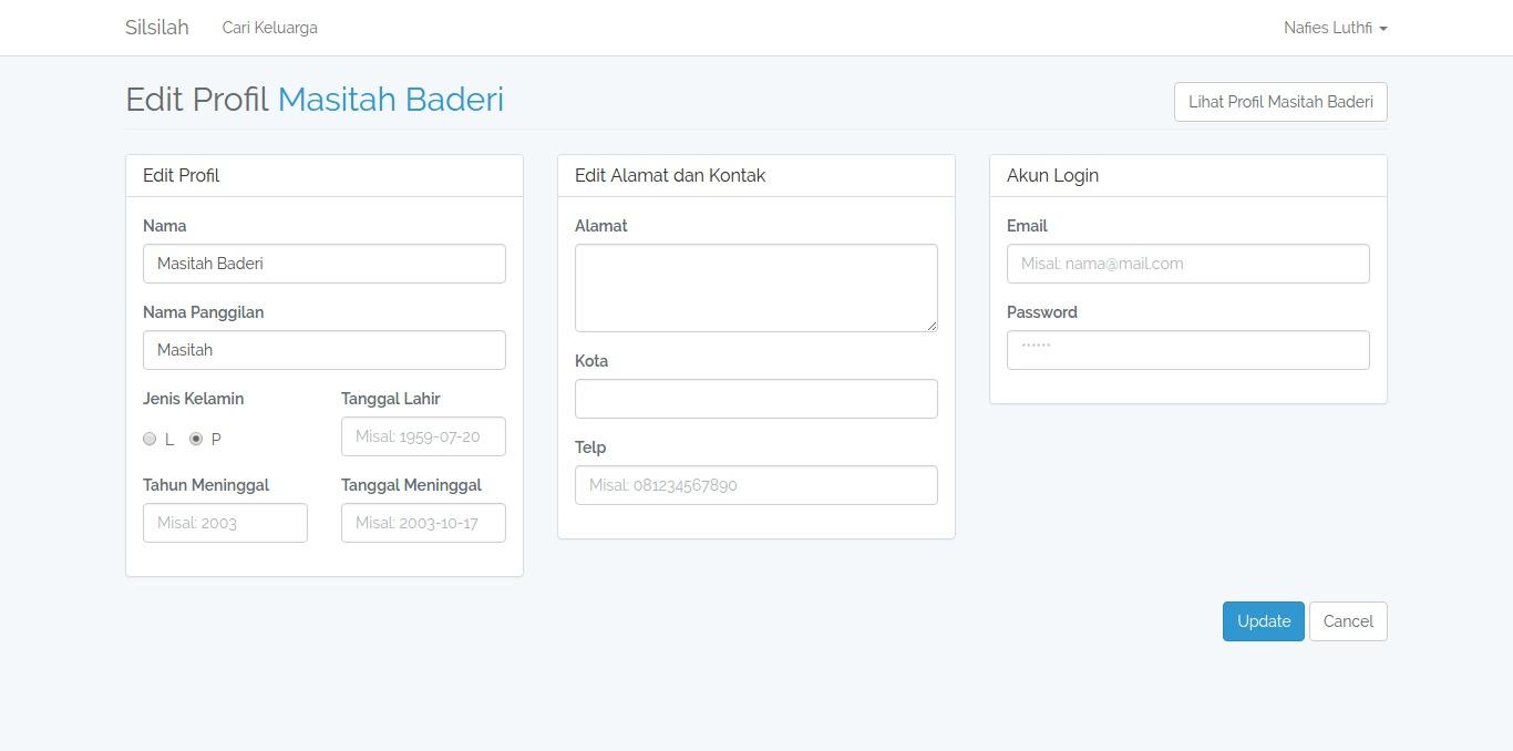 Profil Edit Form