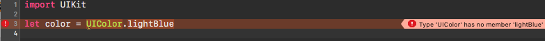 Typical Xcode error