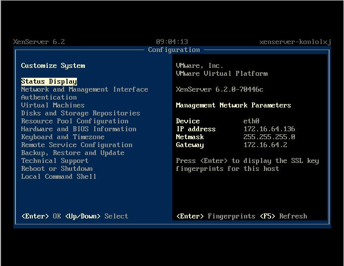 XenServer on VMware Player
