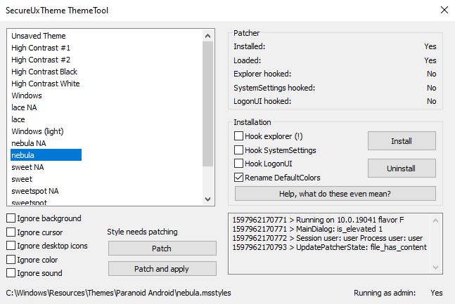 ThemeTool Screenshot