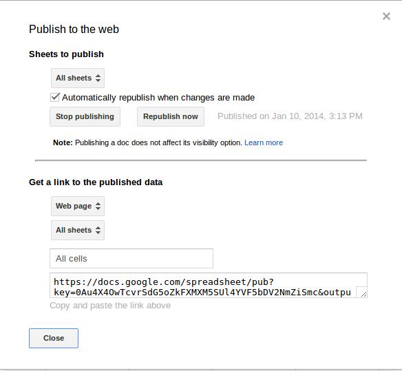publish google doc