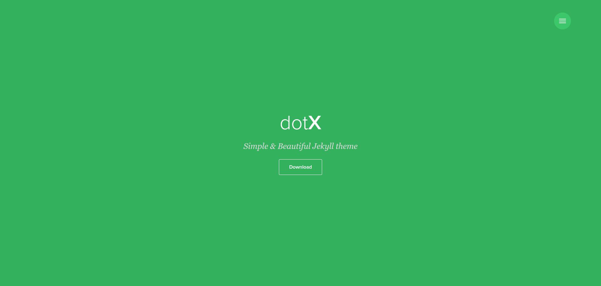 dotx - free Jekyll theme