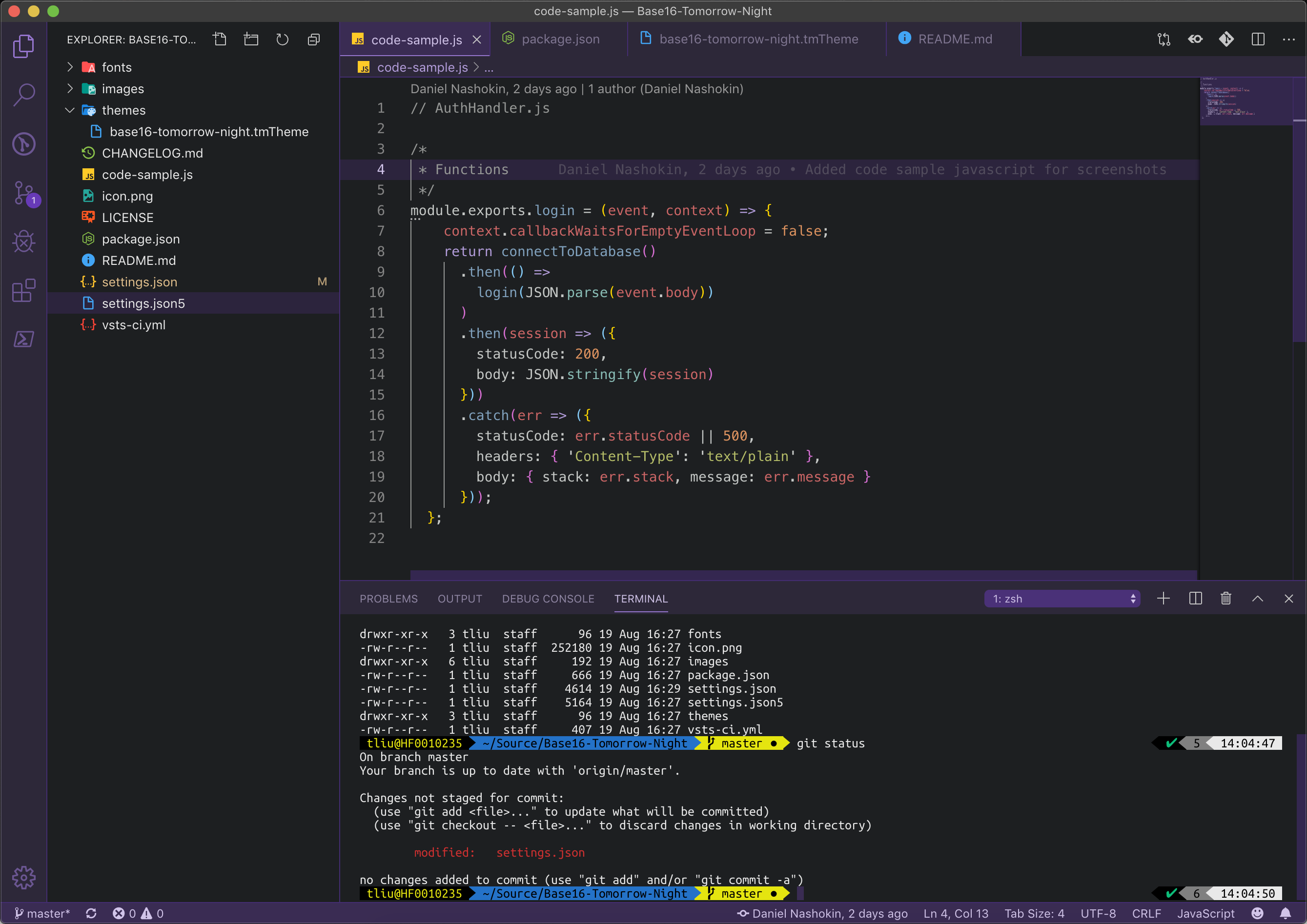 Base16 Visual Studio Code mac
