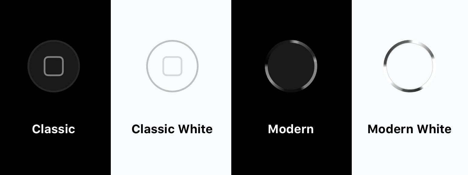 Home Button Style Options