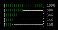 Picture of a few progress bars
