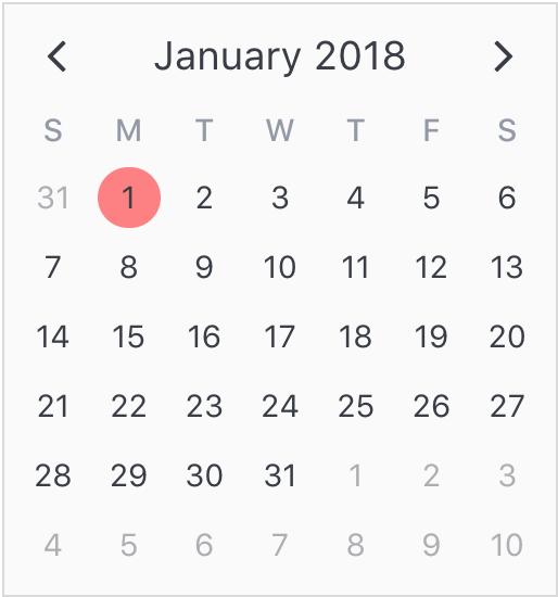 Calendar Date.Github Nathanreyes V Calendar A Lightweight Dependency Free