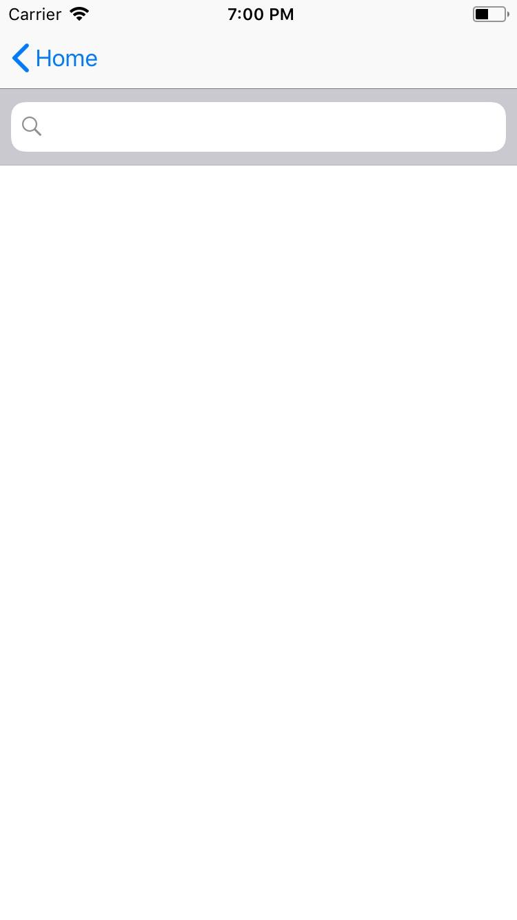 SearchBar - NativeScript-Vue