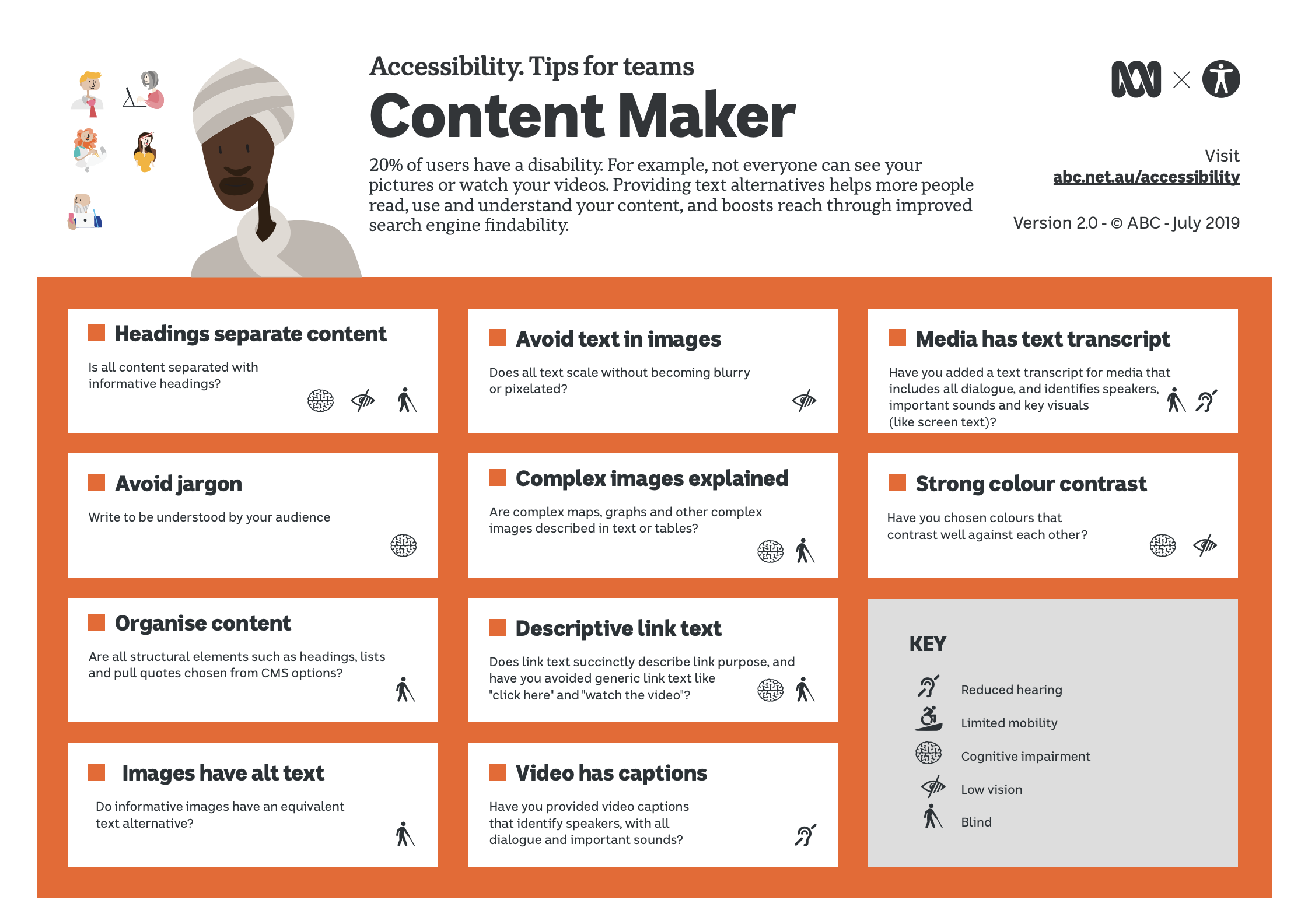 UU-tips for Content Makers fra abc, PDF