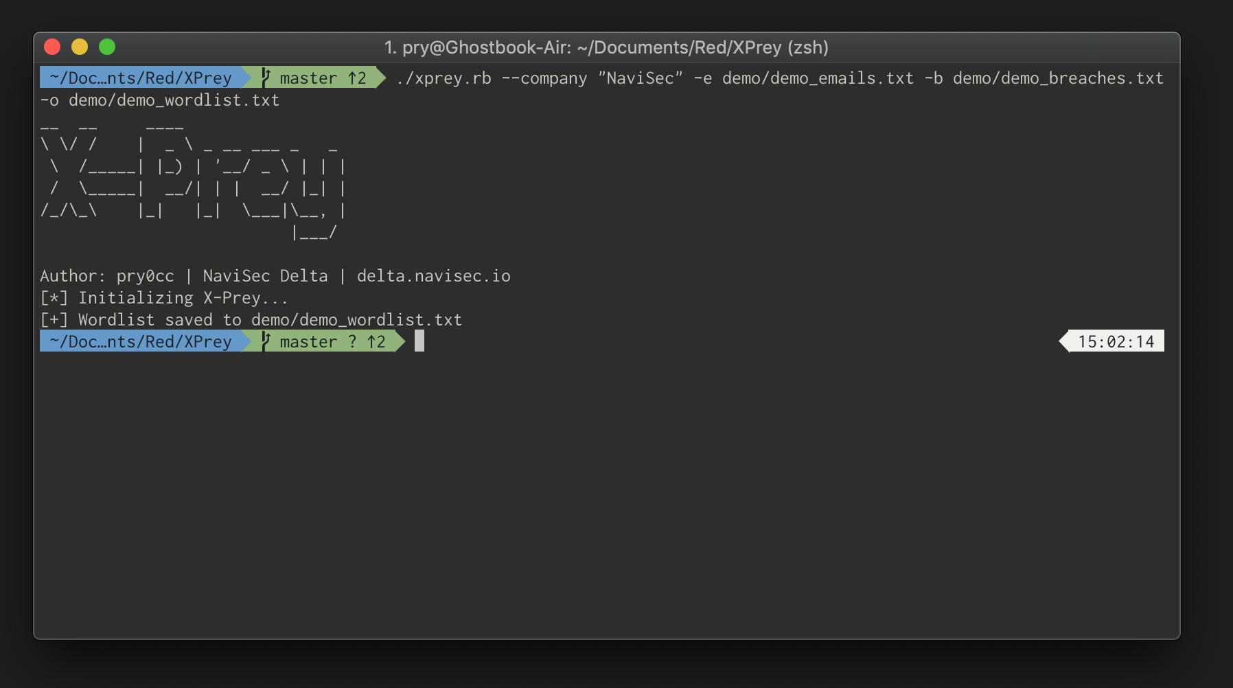 Using X-Prey to generate a wordlist
